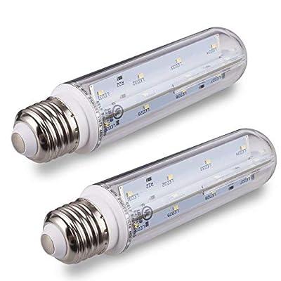 Tento Lighting LED T10 Tubular White LED Bulbs Medium Base E26 60 Watt 5000k Type T Appliance Bulb 10 Watts Edison T10 Clear Tubular Bulb 60w 75w Fridge Aquarium Microwave UL Listed Energy Star