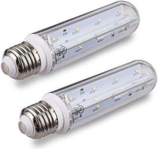 Tento Lighting T10 Clear Tubular, E26 Medium Base, Fridge Aquarium UL Listed Energy Star Piano LED Light Bulbs, Cool White, 60w - 70w Brightness (5000k)
