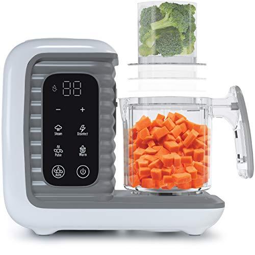 Children of Design 8 in 1 Smart Baby Food Maker & Processor, Steamer, Blender, Cooker, Masher, Puree, Formula & Bottle Warmer Prep System
