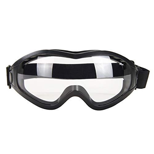 Babimax Schutzbrille Sicherheitsbrille aus PC&PVC mit Kratzfester Scheibe Panoramablickfeld für Brillenträger Bauarbeit Gartenarbeit Holzarbeit Labor Outdoor Industrie