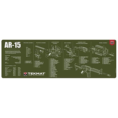 TekMat AR-15 Olive Drab Gun Cleaning Mat, Black (one Size)...