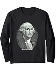 George-Washington-One-Dollar-Face-Portrait Manga Larga