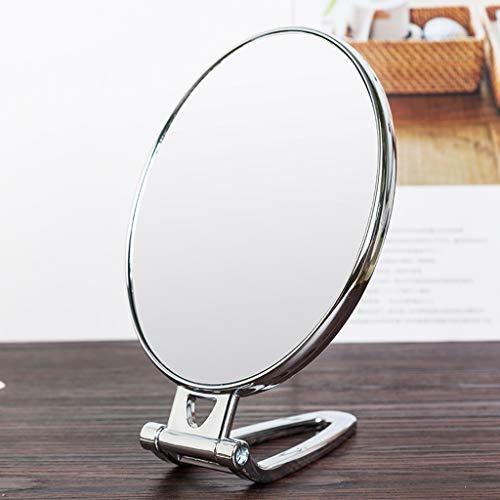 LQY Miroir à Main, Miroir de Maquillage, Miroir Pliant portatif, Miroir Compact portatif, Miroir de Coiffeuse Double Face,B