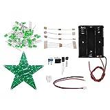 JISHIYU -Q DIY Kit de flash de noticias LED rojo/verde/azul con caja de batería Pentagram Light Kit (color: verde)
