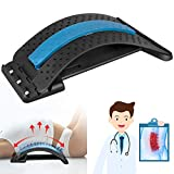 Back Stretcher, Torjim Multi-Level Lumbar Stretching Device, Adjustable Back Massager Pain Relief for Herniated Disc, Sciatica, Scoliosis, Lower and Upper Back Stretcher Support