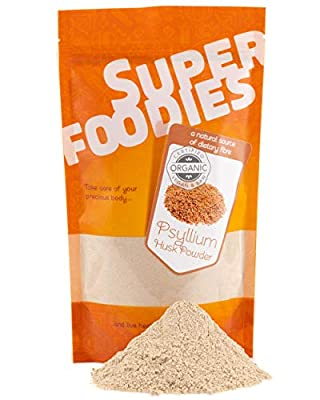 Organic Psyllium Husk Powder by Super Foodies (20 Daily Servings)