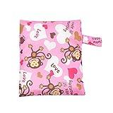 Kinderwagen Diaper Storage Tote - Pink Monkey Print Wasserdichter Buggy-Speicher-Organizer