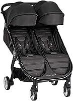 Baby Jogger City Tour 2 Geschwisterwagen | kompakt, zusammenklappbar & tragbar Zwillingsbuggy | Jet (schwarz)