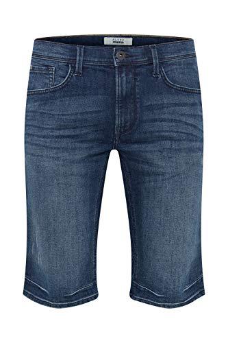Blend Denon Pantalón Corto Vaqueros para Hombre Elástico Regular-Fit, tamaño:M, Color:Denim Darkblue (76207)