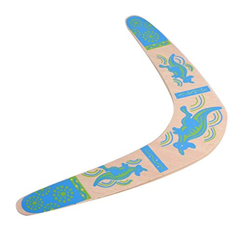 CXD Super Strapazierfähiger Bumerang Aus Holz, Umweltfreundlich Kinder Und Erwachsene EIN Echter Bumerang Der Jedes Mal Wiederkommt,Blau