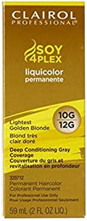 Clairol Professional Liquicolor Permanent 10G/12G Lightest Golden Blonde 2 Ounce (59ml) (3 Pack)