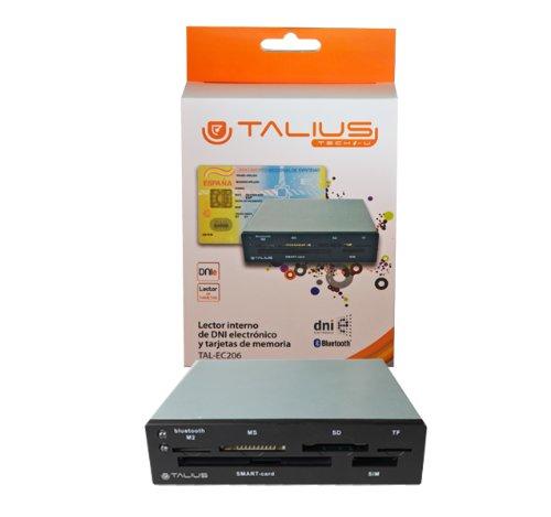 "TALIUS - Lector (MMC, MS Duo, MS Pro, Memoria extraíble, MicroSD (TransFlash), SD, SDHC, 3.5"", USB, Negro, FCC, CE, CB, RoHS, Envase para Colgar)"