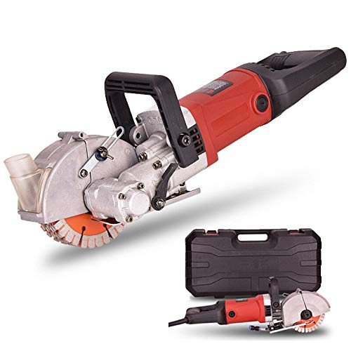 Wall Grooving Machine ,Electric Wall Chaser 4000W 6500RPM Wall Groove Slotting Machine ,220V Concrete Cutting Machine for Home Decoration/Construction