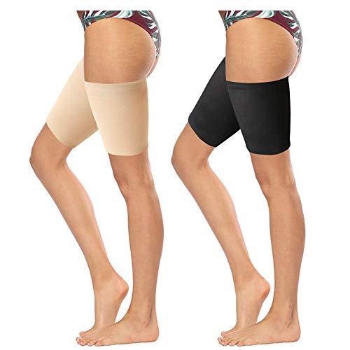 FANTESI 4 pares de bandas elásticas para el muslo, para mujer, antirozaduras, para evitar rozaduras en el muslo, bandas invisibles para el muslo (multi)