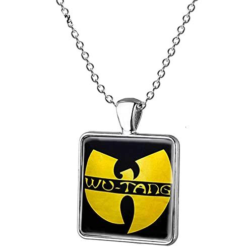 Wu Tang Clan Halskette, quadratisch, Glas, Foto-Anhänger, Choker, Hip-Hop, Wu Tang, handgefertigter Schmuck, Geschenke für Fans