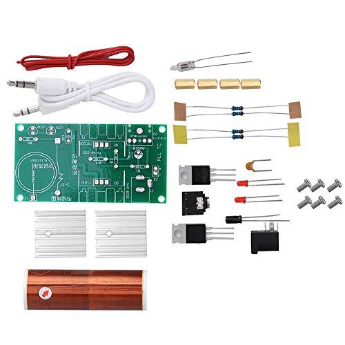 Fafeicy Bobina Tesla, mini bobina de Tesla sin ensamblar Kit electrónico, 15W DC 15-24V 2A Altavoz de plasma