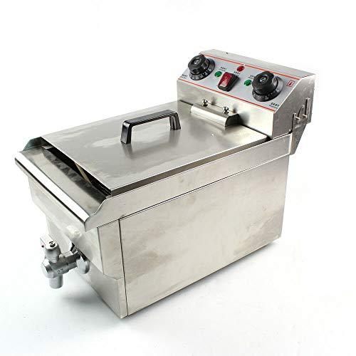 3000W Qualität Edelstahl Elektrische Friteuse Fritöse Kaltzonen 10L Catering Elektro-Fritteuse(Fur Pommes frites,Gebratenes Huhn.geschäftliche Nutzung)