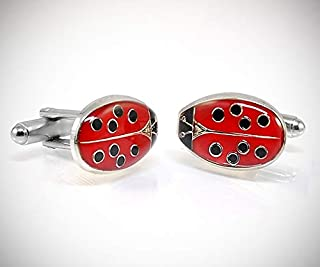 Gemelli Camicia Coccinella Portafortuna - Made in Italy - Lady Bug Cufflinks