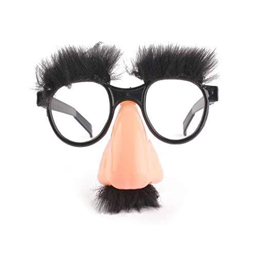 lynn Moustache pour Halloween - Faux nez et sourcils - Accessoire amusant pour déguisement de clown