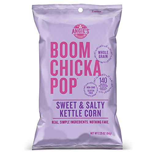 Angie's BOOMCHICKAPOP Gluten Free Sweet and Salty Kettle Corn 24-Pack Now $10.98
