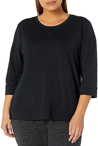 Karen Neuburger Women s Plus Size Top 3 4 Sleeve Shirt Pj as Black 2X product image