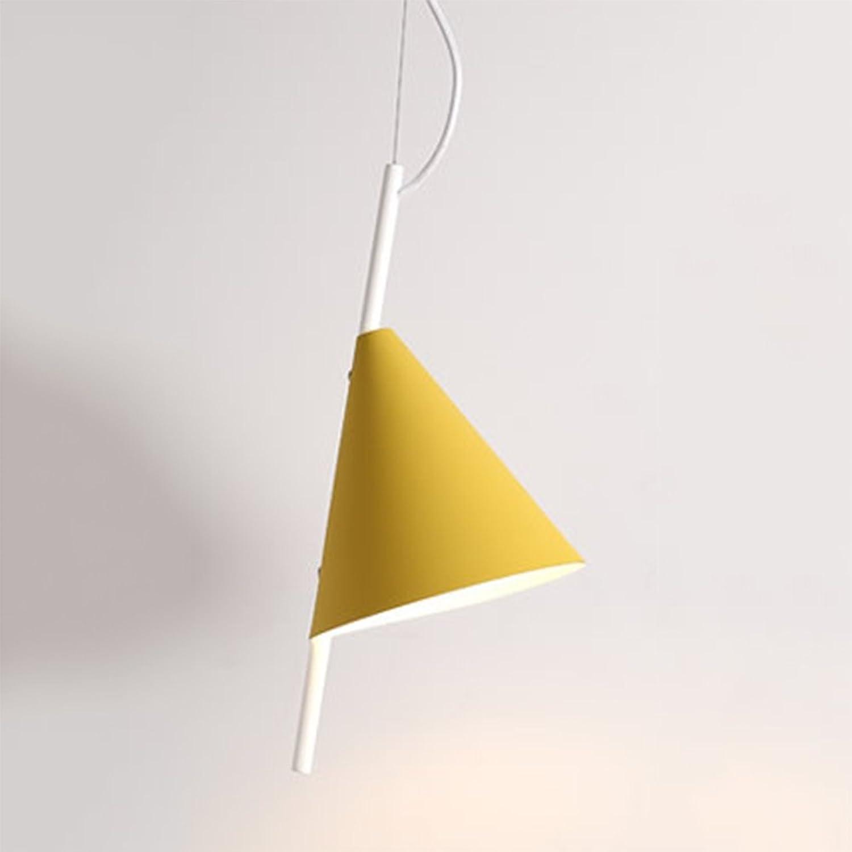 XIAYF Nordic Macarons Kreative Einzelkopf-Kronleuchter Postmodern Restaurant Schlafzimmer Nacht Simple Art Chandelier,Gelb