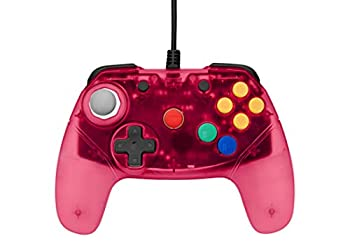 Retro Fighters Next Gen N64 Controller Brawler64 Gamepad Transparent Colors - Red - Nintendo 64