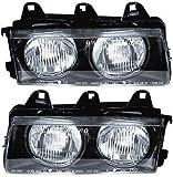 Evan-Fischer Headlight Set Compatible with 1992-1995 BMW 320i 1994-1999 M3 Left...