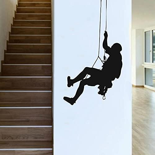 Etiqueta de la pared de escalada en roca escaladores vinilo calcomanía dormitorio decoración de la pared decoración de la sala de estar honda deportes extremos arte mural - tamaño: 42x74cm