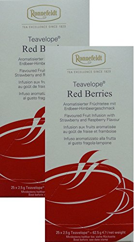 Ronnefeldt-Teavelope -2er Pack- Red Berries - Aromatisierter Früchtetee - 2x25x2,5g Teebtl.