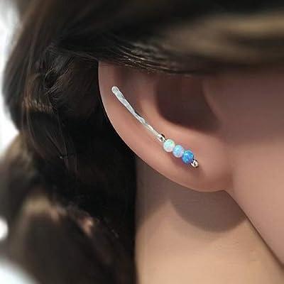 Grimpeur d'oreille, bijoux minimaliste, boucles d'oreilles en argent martelé, idée cadeau