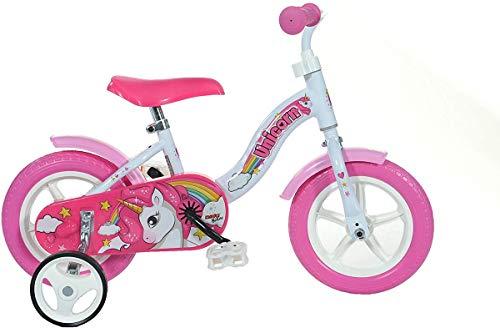Dino Bikes 108L-UN Unicorno 25,4 cm, bianco e rosa