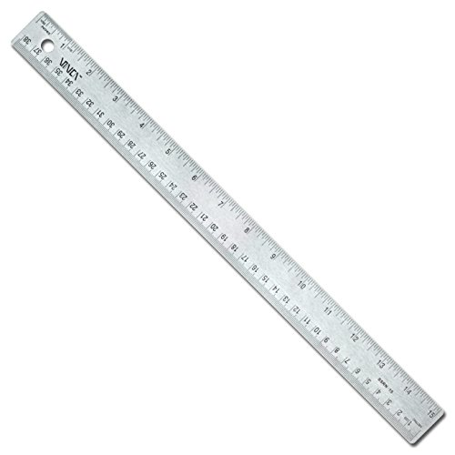 VINCA SSRN-15 Stainless Steel Office Drawing Ruler 0-15 Inch