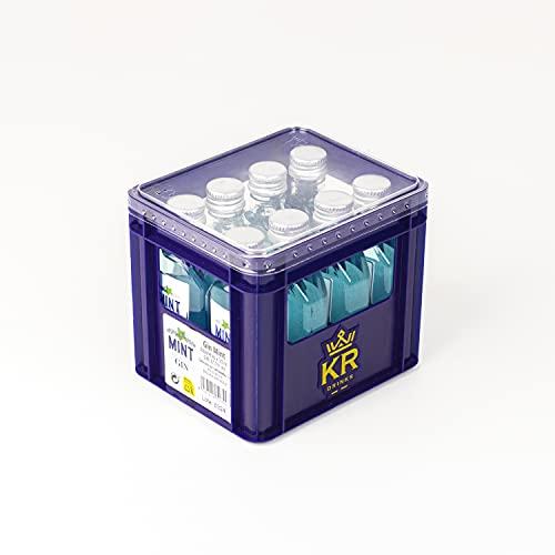 mint by rosée Mini Cajon Gin Mint | 50ml x 8ud | 30°%Vol | Ginebra con refrescante sabor a Menta | botellas de licor miniatura | botellas miniatura ginebra | mini ginebras regalo - 400 ml