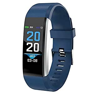 DOMDIL-Fitness Tracker con Cardiofrequenzimetro e Monitor del sonno, Activity Tracker con Display a Colori Smart Watch, Sfigmomanometro per Uomo e Donna 4