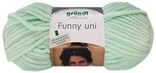 Gründl Funny 100g Softgarn aus 100% Polyester (04 Mint)
