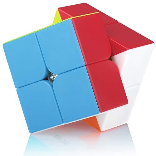 Cubo Magico 2x2 2x2x2 Speed Cube Puzzle Cubo de la Velocidad Niños Juguetes Educativos, Stickerless