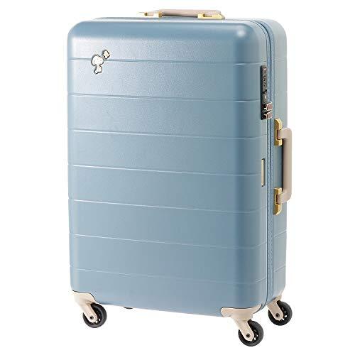 ≪JEWELNA ROSE ジュエルナローズ≫トロトゥール スヌーピー スーツケース 4-5泊 47L キャスターストッパー搭載 レディース かわいい ピーナッツ 06028 (ブルー)