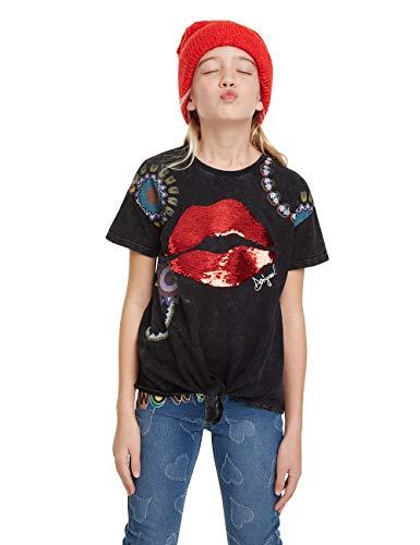 Desigual T-Shirt Frankfort Camiseta, Gris (Gris Oscuro 2006), 6 años para Niñas