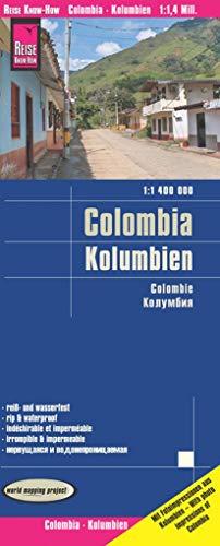 Reise Know-How Landkarte Kolumbien (1:1.400.000): world mapping project
