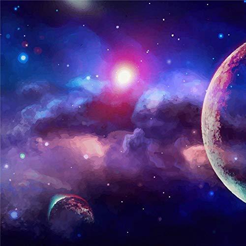 daoyiqi Juego de pegatinas decorativas para azulejos, diseño de galaxia, espacio exterior, cielo universo de 10 x 10 cm, 12 unidades de vinilo impermeable para decoración del hogar