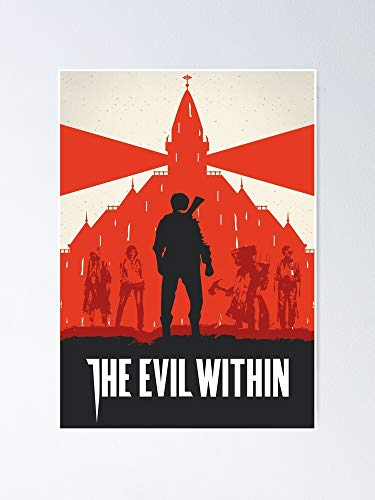 guyfam The Evil Within Poster 12x16 Inch No Frame Board for Office Decor, Best Gift Dad Mom Grandmother and Your Friends