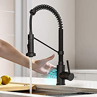Kraus KSF-1610MB Bolden Touchless Sensor Commercial Pull-Down Single Handle 18-Inch Kitchen Faucet, Matte Black (B088G1DH5C) | Amazon price tracker / tracking, Amazon price history charts, Amazon price watches, Amazon price drop alerts