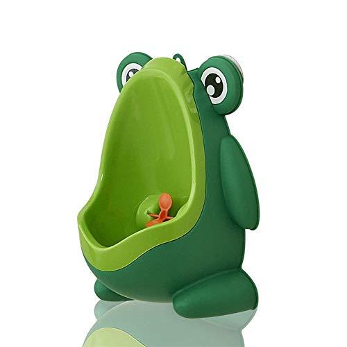 Cute Frog Shape Children Potty, Toilet Training/Kids Urinal for Boys/Pee Trainer/Portable Ergonomic Design (Green)