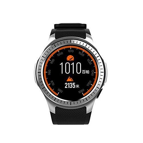 BTPDIAN Reloj Inteligente Reloj de Ritmo cardíaco podómetro Reloj de Comercio Exterior Tarjeta de explosión transfronteriza (Color : Silver)
