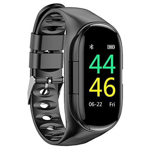 Auricolari SmartWatch Sports M1 AI Earphone Smart-Watch Bracelet Cuffie auricolari TWS wireless blu integrate (Nero)