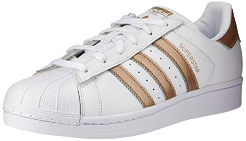 adidas Superstar, Zapatillas para Mujer, Blanco (Footwear White/Cyber Metallic/Footwear White 0), 38 EU