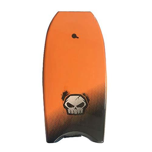XLY Tabla Surf, Tabla de Bodyboard 107cm con núcleo de EPS y Crescent Tail, Boogie Board para Adultos y niños,Naranja