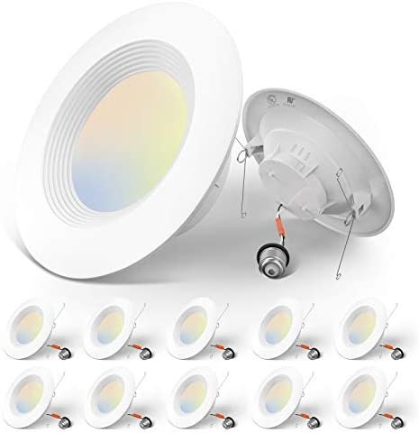 Amico 5 6 inch 3CCT LED Recessed Lighting 12 Pack Dimmable Damp Rated 12 5W 100W 950LM Can Lights product image