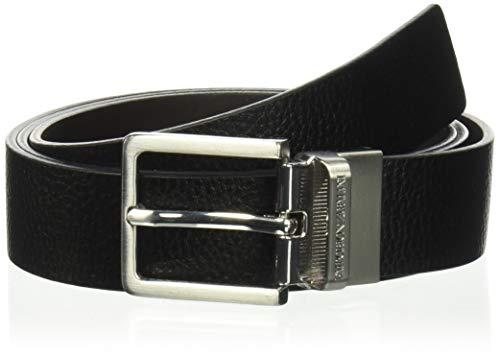 Emporio Armani Herren Designer Belt Gift Box Gürtel, schwarz/schwarz, Einheitsgröße